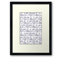 fruit outline Framed Print