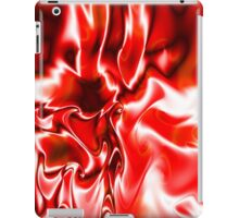 Red melted pattern iPad Case/Skin