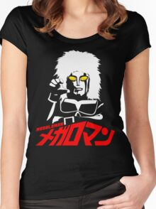 JAPAN CLASSIC SUPERHERO TOKUSATSU MEGALOMAN  Women's Fitted Scoop T-Shirt