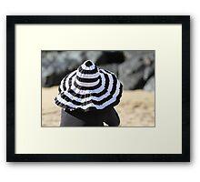 Beach Hat Framed Print