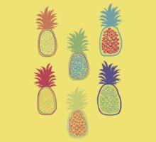Colorful pineapple. Doodle art Kids Tee