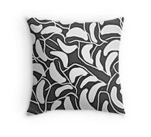 Seeds Black & White Throw Pillow