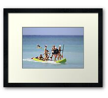 Group Stand Up Paddle Framed Print