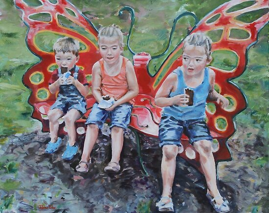 Cool Treats on the Butterfly Bench by Juliane Porter