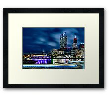 Elizabeth Quay at Night Framed Print