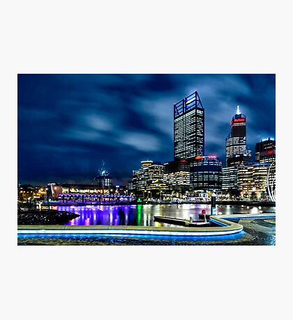 Elizabeth Quay at Night Photographic Print