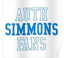 """BEN SIMMONS """"AUTH SIMMONS FANS"""" Poster"""