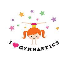 I love gymnastics - ginger girl doing a handstand by MheaDesign