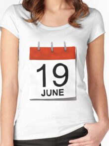 June 19 Women's Fitted Scoop T-Shirt
