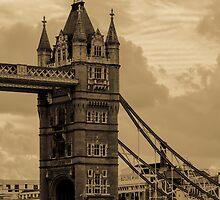 Tower Bridge - antique by Anastasia E