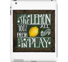 The lemon is in play! iPad Case/Skin