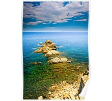 View from a cliff - Javea Poster