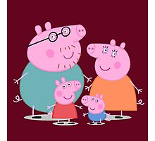 daddy pig and familly Photographic Print
