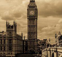Big Ben - antique by Anastasia Filippova