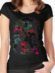Colorful Paint Drips Women's Fitted Scoop T-Shirt