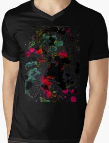 Colorful Paint Drips Mens V-Neck T-Shirt