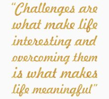 """Challenges are... """"Joshua A. Marine"""" Inspirational Quote One Piece - Short Sleeve"""