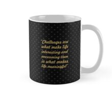 "Challenges are... ""Joshua A. Marine"" Inspirational Quote Mug"