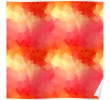 Colorful geometric pattern Poster