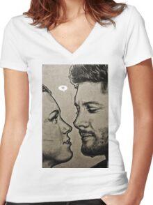 Jensen Ackles & Danneel Harris Women's Fitted V-Neck T-Shirt
