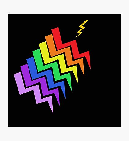 Struck By Rainbow Photographic Print
