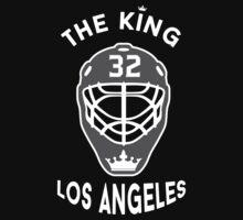 King of Los Angeles Jonathan Quick Kings NHL T-shirt by chadkins