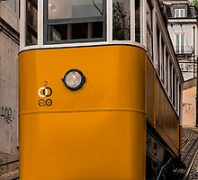 Yellow Tram in Lisbon by Anastasia E