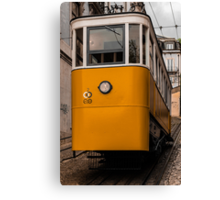 Yellow Tram in Lisbon Canvas Print