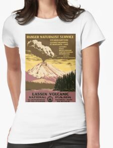 Lassen Volcanic National Park Vintage Travel Poster Womens Fitted T-Shirt