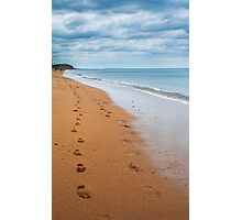 Footprints In The Sand.. Photographic Print