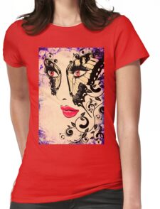 Grunge Summer Girl with Floral 2 Womens Fitted T-Shirt