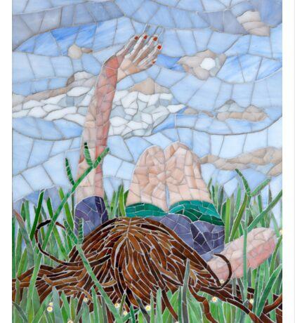 Girl in the grass Sticker