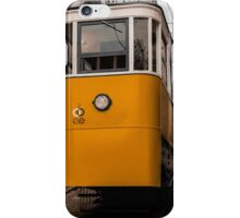 Yellow Tram in Lisbon iPhone Case/Skin