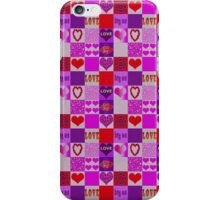 Patchwork Romantic Hearts Pattern iPhone Case/Skin