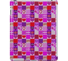 Patchwork Romantic Hearts Pattern iPad Case/Skin