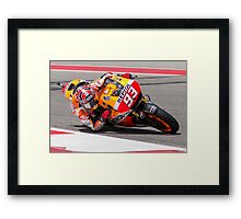 Marc Marquez at Circuit Of The Americas 2014 Framed Print