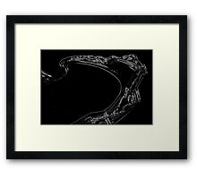 Curves of a Woman Framed Print