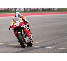 Dani Pedrosa at Circuit Of The Americas 2014 Photographic Print