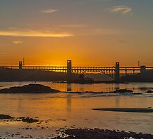 Britannia Bridge Sunset by Alec Owen-Evans