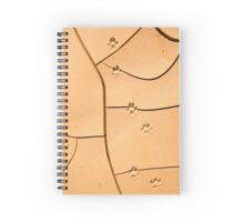 animal footprints in dried mud Photographed in Israel  Spiral Notebook
