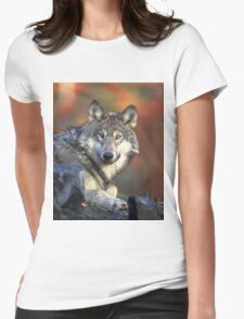 WOLF IN THE WILD Womens Fitted T-Shirt