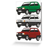 Fiat Panda first generation Greeting Card