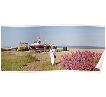 Coastal Landmarks - Sizewell to The Aldeburgh Scallop  Poster