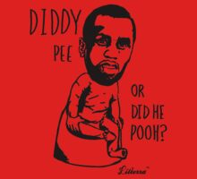 Diddy Pee or did he Pooh? by lilterra.com Potty People in the House! One Piece - Short Sleeve
