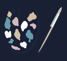 Art palette and paint brush Baby Tee