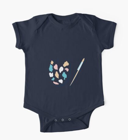 Art palette and paint brush One Piece - Short Sleeve