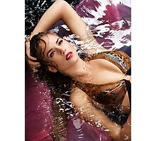 Portrait of beautiful woman lying in water art photo print Photographic Print