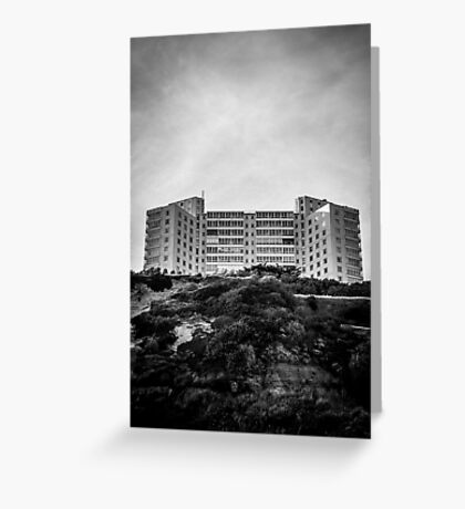 Cliff Architecture Greeting Card