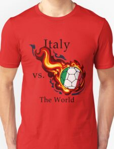 World Cup - Italy Versus the World Flaming Football T-Shirt