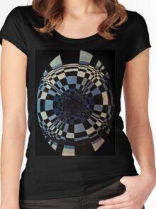 Fibonacci in Hades, Goth Women's Fitted Scoop T-Shirt